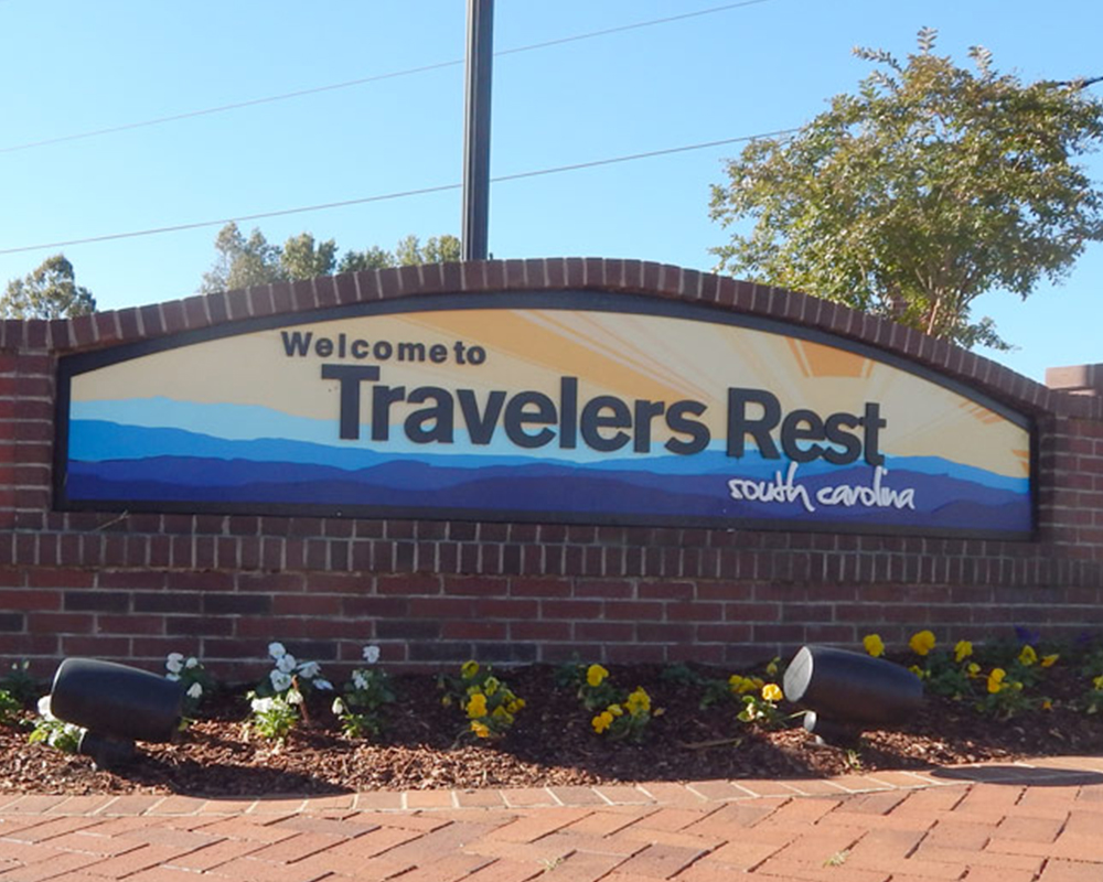 Travelers Rest Sign